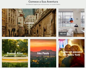 airbnb página inicial