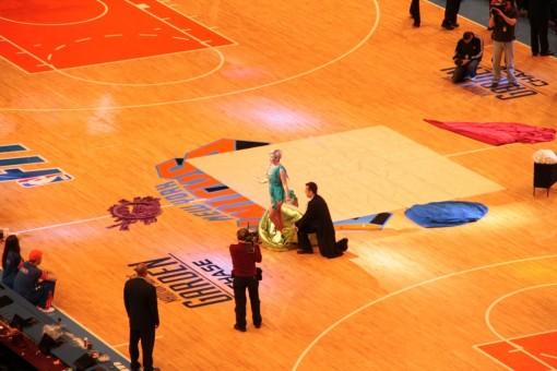 Mágica no jogo de basquete Madison Square Garden