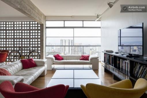 Apartamento projetado por Oscar Niemeyer