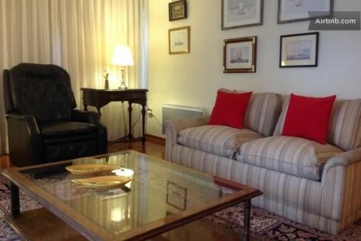 Sala do apartamento em Snatiago