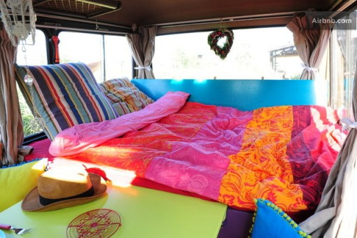 van na holanda interior airbnb