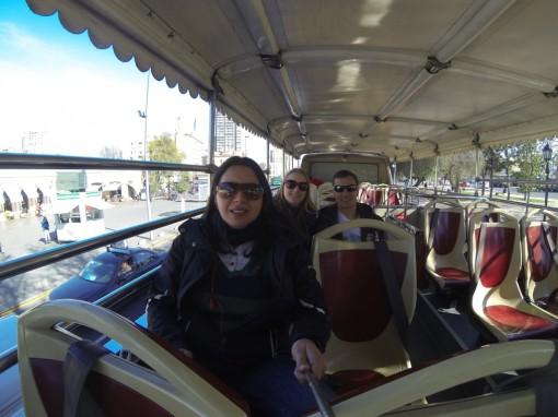 Um selfie no ônibus da turistik