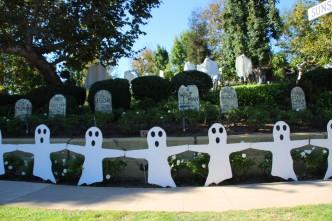Enfeites de Halloween nas casas
