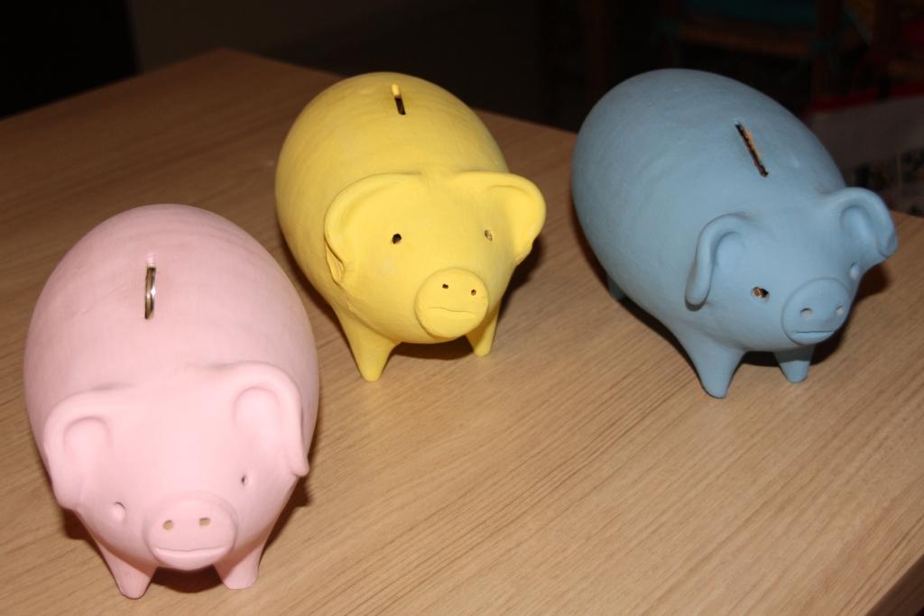 Os porquinhos gordos para o abate