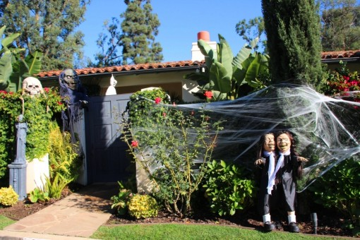 Enfeite de Halloween nas casas de Los Angeles