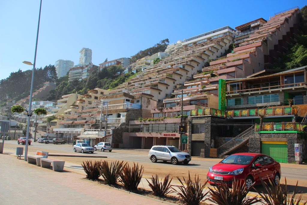 Valparaíso e viña del mar - Prédios em degraus em Viña del Mar