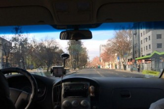 TAxista em Santiago