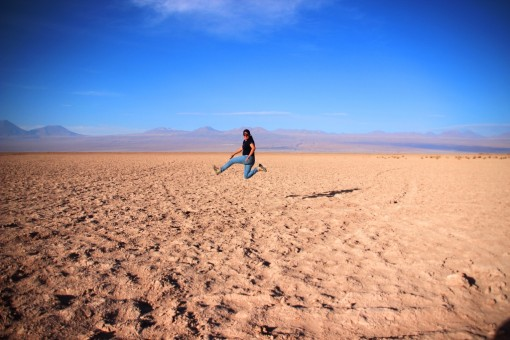 Ion pulando no deserto