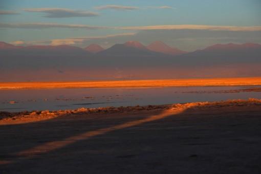 Por do sol na Laguna Tebinquinche