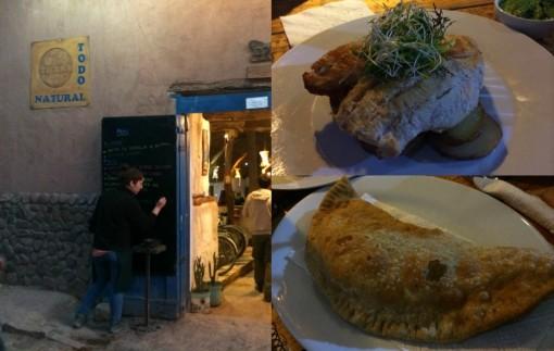 Pollo a La Plancha  e empanada de queijo