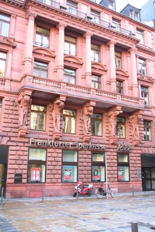 Detalhe de um prédio bancário em Frankfurt