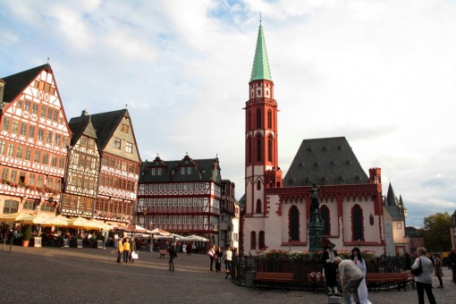 No centro da praça de Rommerberg