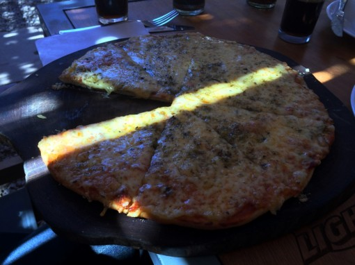 Pizza pra alegrar as viagens