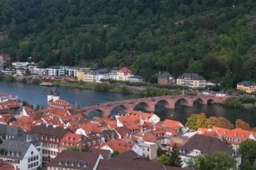 Vista da cidade a partir dos jardins do castelo