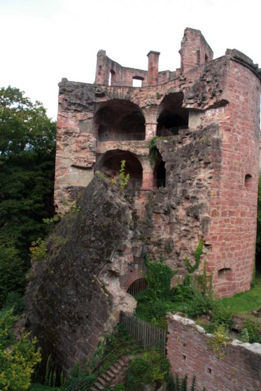 Parte do castelo em ruínas
