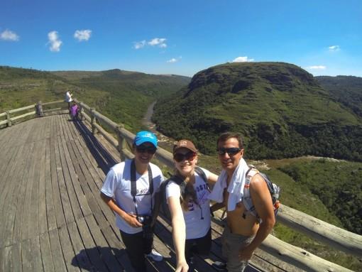 Selfie: nós e o rio Iapó