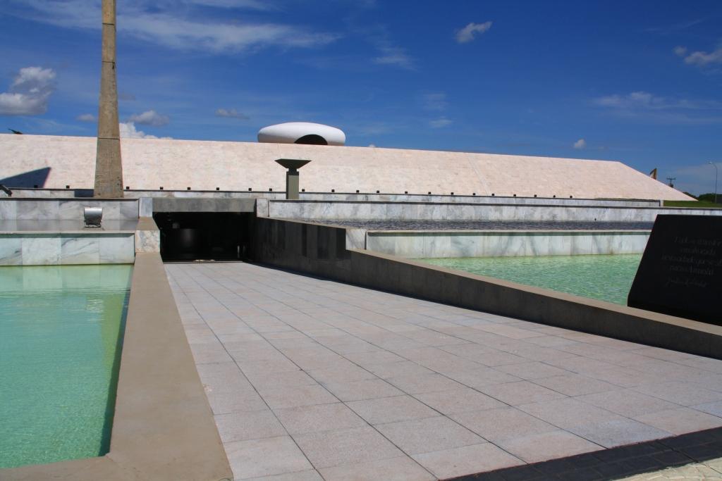 Entrada do Memorial JK - turismo em Brasília