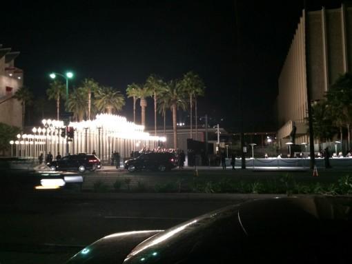 Entrada da festa do Martin Scorsese no LACMA.