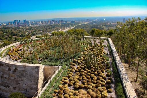 Jardim de cactus no Getty