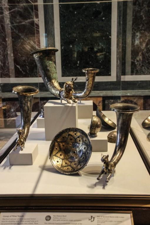 Peças não identificadas no museu Getty Village