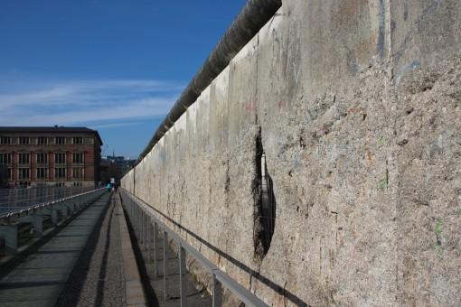 Parte do Muro de Berlim onde ficava a Gestapo