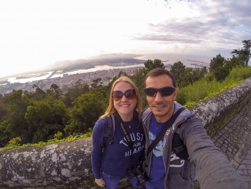 De cima do Santuário de Santa Luzia, o mar e a cidade.