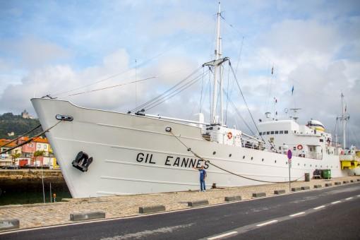 Navio hospital que dava apoio aos navios bacalhoeiros