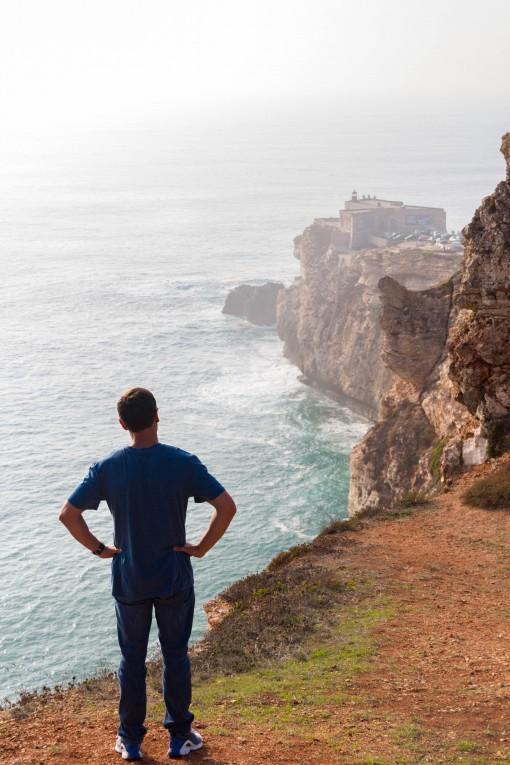 Vista do forte de São Miguel e das falésias