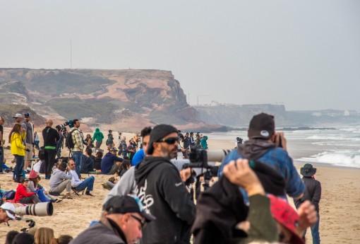 Pico do Fabril. Foi difícil chegar aqui mas a gente queria dar uma espiada na etapa portuguesa do mundial de surf
