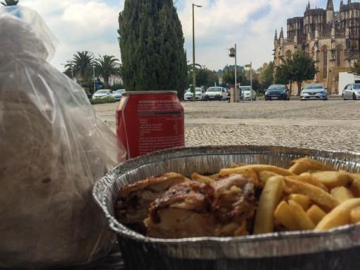 Almoço com vista privilegiada para o mosteiro de Batalha