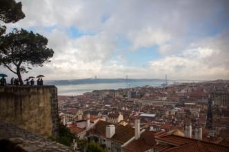 Miradouro do Castelo de São Jorge quando a chuva deu uma trégua