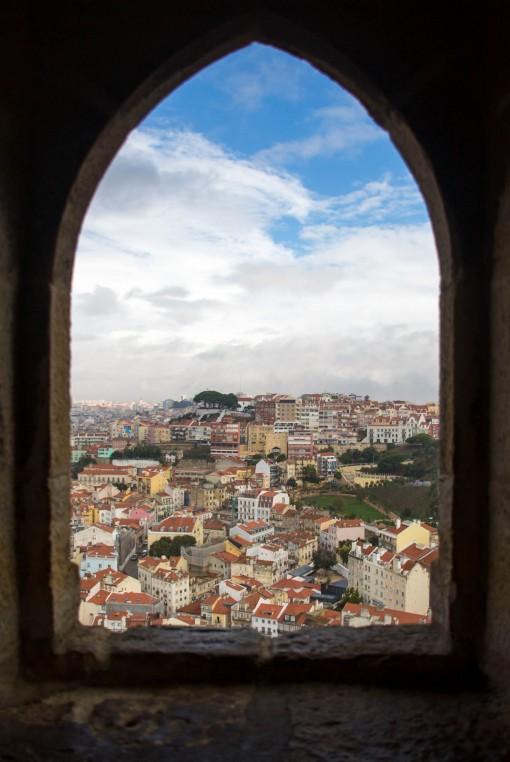 Um pouco de Lisboa pelas janelas do Castelo de São Jorge