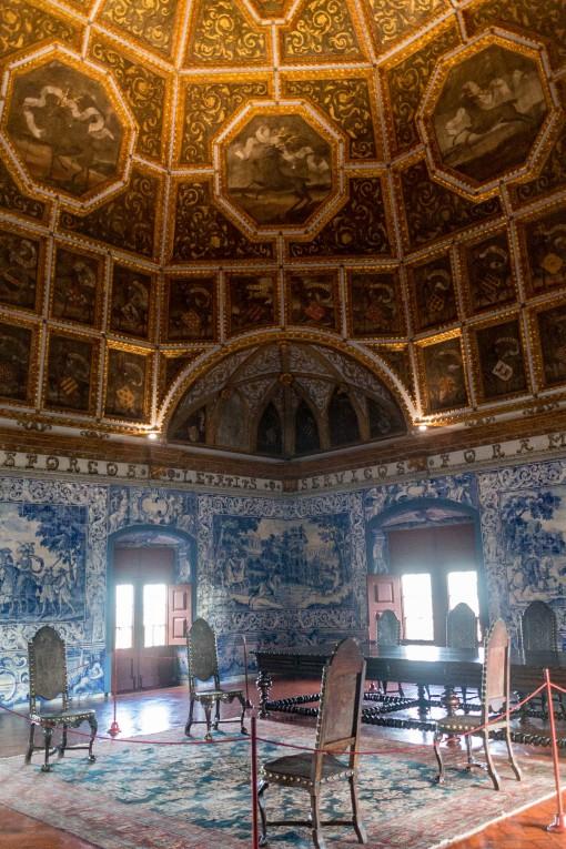 Uma das salas que mais gostamos no Palácio, Sala dos Brasões