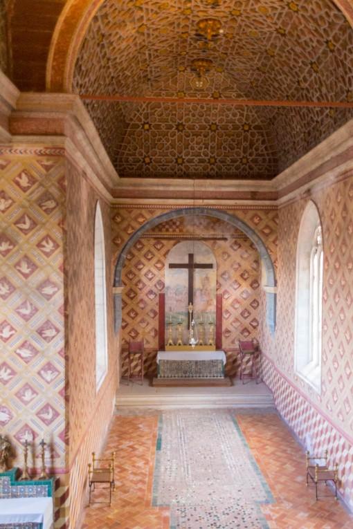 Capela Palatina decorada com influência mourisca