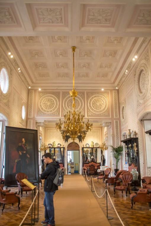 A sala mais linda do Palácio da Pena foi transformada em Sala de Bilhar depois da morte da rainha