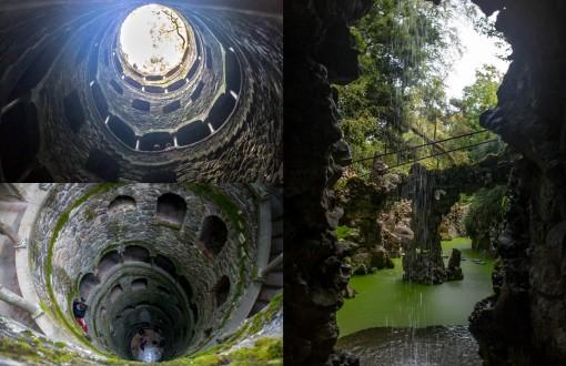 O poço iniciático é um dos mistérios da Quinta da Regaleira. Depois de passar por alguns túneis você chega a essa cascatinha