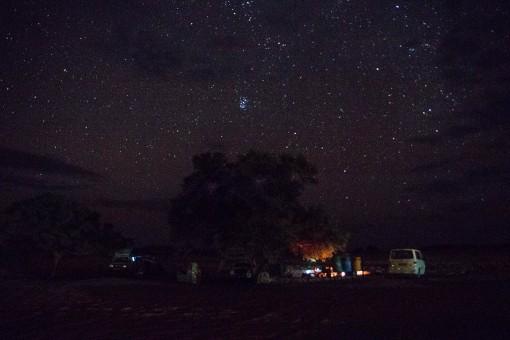Céu do deserto. Adoro ver as estrelas.