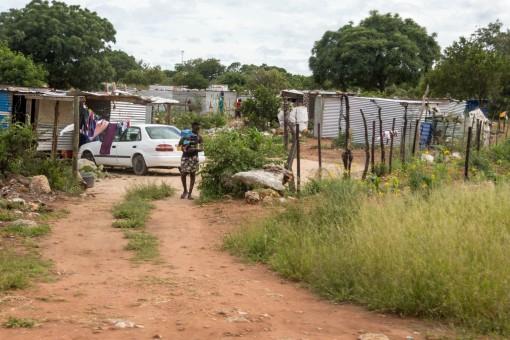 Assentamento perto de Okahandja