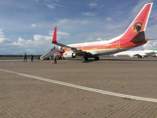 Aeroporto da Namíbia, o menor que eu já estive.