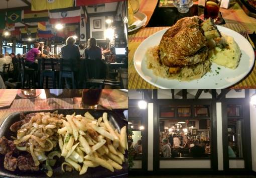 O Brauhaus é legal e a comida é ótima.