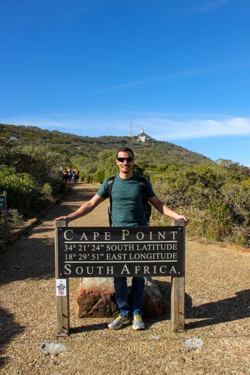 Placa no início da subida de Cape Point.