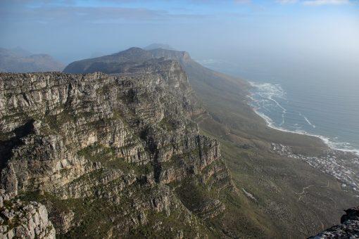 Vista linda de cima da Table Mountain