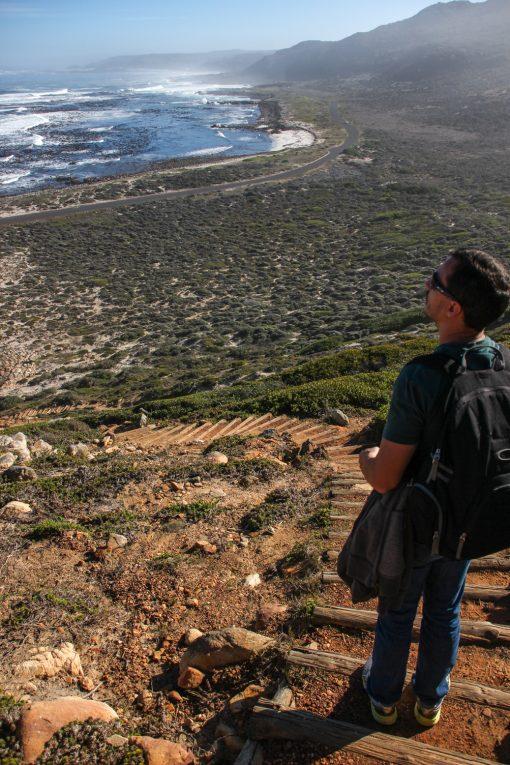 De cima da trilha cênica do Cabo da Boa Esperança