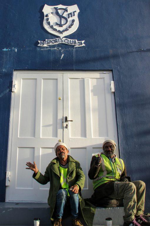 Guardadores de carro simpáticos em Bo-Kaap.
