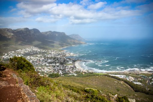 Camps Bay, vista de cima da Lion´s Head.