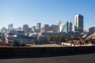 Chegada tensa em Joanesburgo