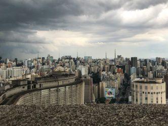 São Paulo vista de cima do Terraço Itália