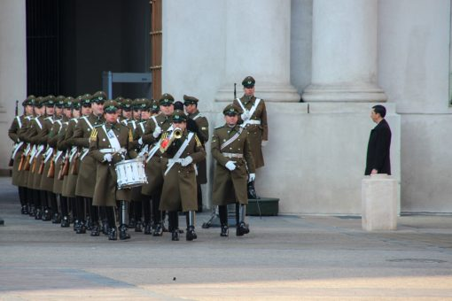 Chegada da guarda para troca no palácio
