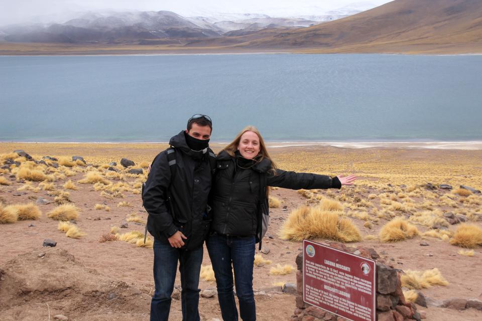 Lagunas altiplanicas - Eu e Diego a frente da LAguna Miscanti