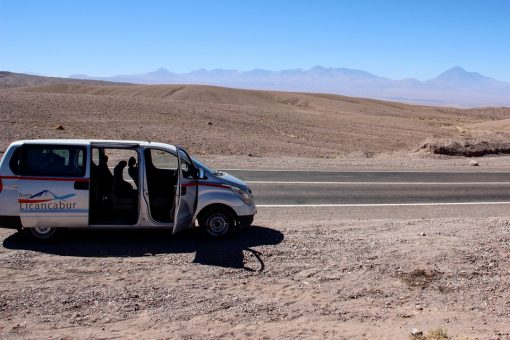 Van da trans licancabur que fez nosso transfer de calama para San Pedro de Atacama